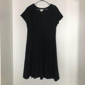 Anthropologie Maeve black midi dress XL